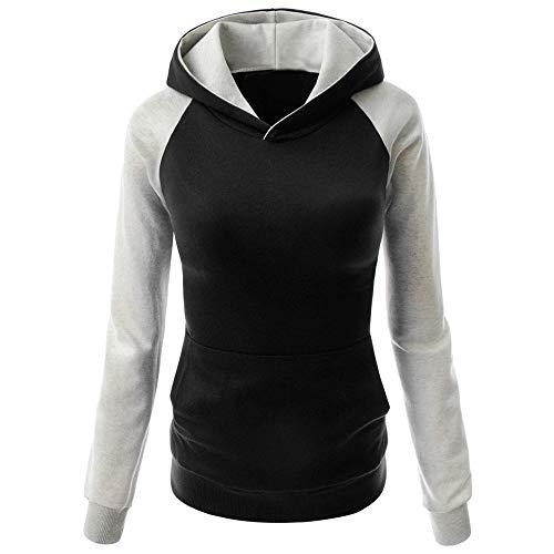OSYARD Damen Kapuzenpullover Oberseiten Sweatshirt, Frauen Hemd Bluse Tops T-Shirt mit Kapuze...
