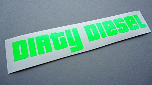 Dirty Diesel NEON Grün Auto Aufkleber Tuning Sticker dapper illest Turbo shocker jdm Männer