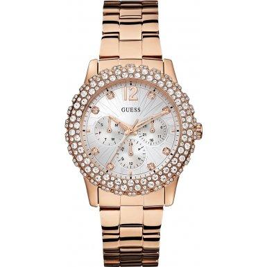 Guess W0335L3 - Reloj de cuarzo para mujer, con correa de acero inoxidable, color rosa