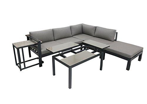 VARILANDO Lounge-Eckgruppe 'Mira' aus Aluminium und Non-Wood Lounge-Set Lounge-Gruppe Sitz-Gruppe...