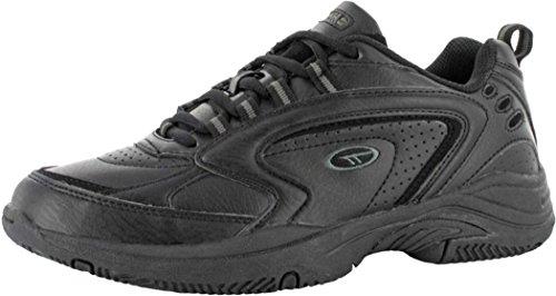 - Tec-xt-115Junioren Laufen Joggen Sport Schnür Schuhe Schwarz oder Weiß Stiefel Schwarz