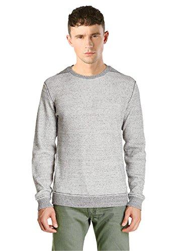 Diesel maglia da uomo k-sebatia felpa a maniche lunghe grigia (grigio, xl)