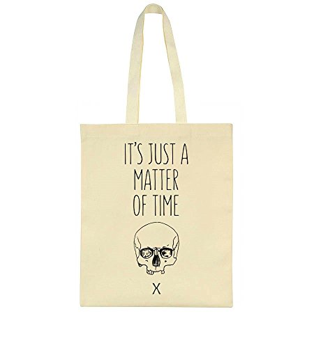 It's Just A Matter Of Time Human Skull Tote Bag