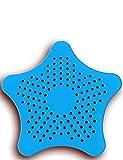 HomeTools.eu - XXL großes Silikon Abfluss-Sieb mit Saugnäpfen | für Küche Spüle Bad Wanne Dusche Gegen Haare, Krümel | 15 x 15cm, Blau