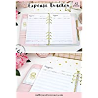 60 Planners - 30 Pages, Income and Expense Tracker, A5 Planner Inserts, Budget Planner Refill, Expenses Tracker, Finance Planner Refill, fits A5 Filofax