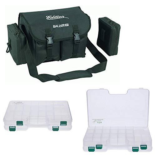 Balzer Angel-Tasche mit Zite Köder-Boxen Doppelseitig und abnehmbaren Kunstköder-Taschen