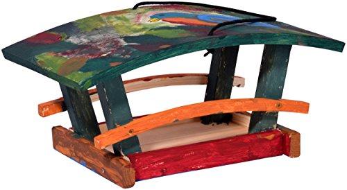 dobar 26051e Vogelhaus Bausatz für Kinder, aus Holz zum Aufhängen, 29 x 18 x 14 cm, bunt - 5