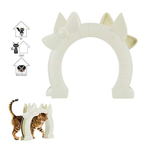 SlowTon Katzentür, Haustiertür für Katzen Innentür 2-Wege-Kitty-Lochpass für Hohlkernglastür für kleine mittelgroße Katzen Versteckte Katzentoilette im Keller Schrauben