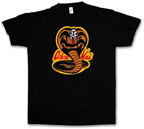 Cobra-logo-t-shirt (COBRA KAI DOJO LOGO T-SHIRT - Karate Kid Movie Film Kult Retro Kampfsport Shirt Größen S - 5XL (M))