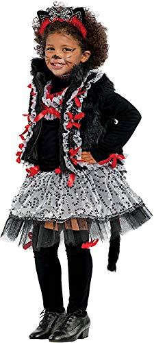 Catwoman Alte Kostüm - Carnevale Venizano CAV53176-S - Kinderkostüm Miss CAT LUSSO - Alter: 7-10 Jahre - Größe: S