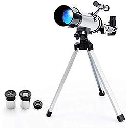 Télescope Portable Astronomique Réfracteur Zoom HD Monoculaire Espace Télescope,avec Portable Trépied,Observer des Etoiles Lune Ciel pour Débutants Enfants - Ranipobo