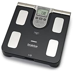 OMRON HBF508 Balance digitale haute précision, mesure du poids, indication du niveau de graisse corporelle, graisse viscérale et IMC