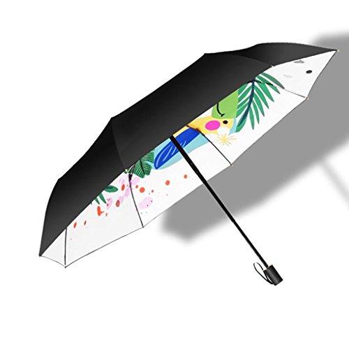 CKH Parapluie créative Sun Parapluie Ultralight Sun Parapluie UV Parapluie Dual Mini Trois Parapluie
