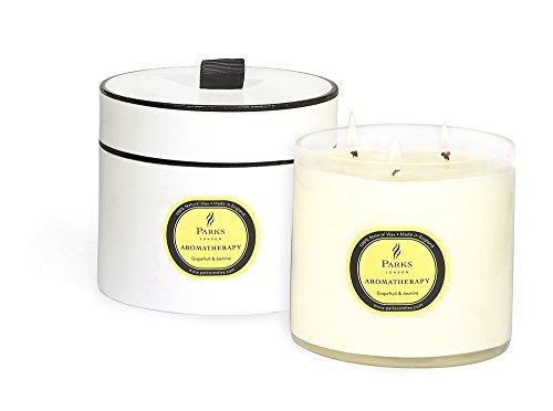 Parks Aromatherapy Kerze mit drei Dochten, 12x11cm, Grapefruit und Jasmin