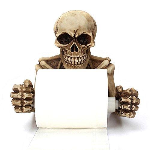Skelett Skulls Dekor WC-Papier Halter in Scary Halloween -