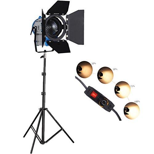 300W Pro Film Fresnel Tungsten Dimmer Spotlight Lighting Studio Video Barndoor 1 Set 1 Barndoor Kit