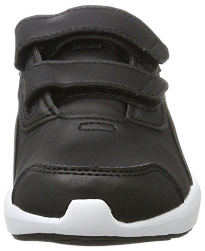 Puma Escaper Sl V Ps, Sneakers Basses Mixte Enfant Noir (Black-white)