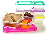 Best Lunch Box Freezer Packs - EasyLunchboxes 3-Compartment Bento Lunch Box Containers, Set of Review