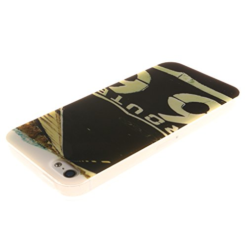 Meet de Feuillu herbe Slim de Protection Téléphone Case pour Apple iPhone 6 / iphone 6S, Apple iPhone 6 / iphone 6S Bumper Case Coque,Apple iPhone 6 / iphone 6S Slim TPU Transparent Silicone Housse Et autoroute