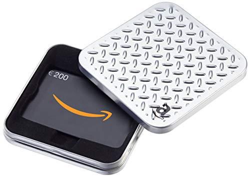 Amazon.de Geschenkkarte in Geschenkbox - 200 EUR (Metallmuster)