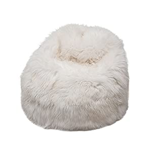 41N%2BDdwd1sL. SS300  - Natural British Sheepskin Bean Bag - Genuine Sheepskin