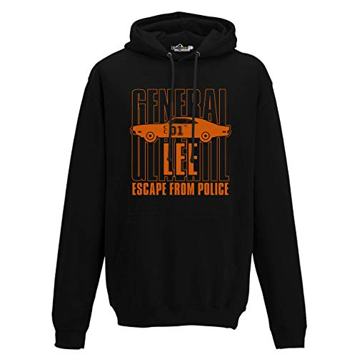 KiarenzaFD Kapuzenpullover The Dukes General Lee Hazzard, Herren, schwarz, Medium