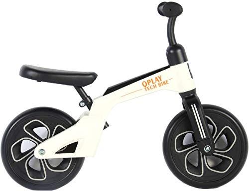 Q-Play Bicicletta Senza Pedali Balance Bike Prima Bicicletta Bimbo Bimba 10  Pollici Bianco