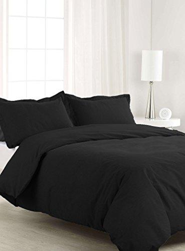 SCALABEDDING 800TC 500% ägyptische Baumwolle 5Teile Bettwäsche für King/Cal King Size Betten SSD schwarz - Cal-king-size-bett Bettwäsche