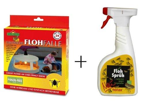 Florissa Elektronische Flohfalle + norax Floh Sprüh 500 ml *Profi-Set*