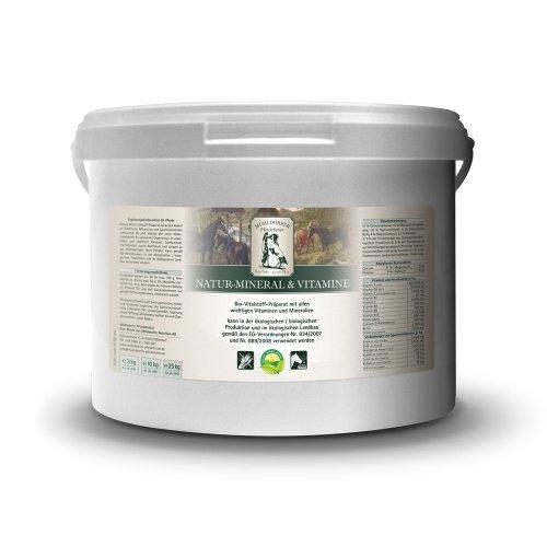 Mühldorfer Natur-Mineral & Vitamine, 3 kg, Multivitalstoff-Präparat, unterstützt den Pferdeorganismus, Bio-Qualität, Ergänzungsfutter für Pferde