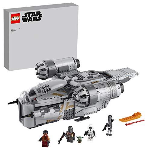 LEGO 75292 Star Wars Der Mandalorianer - Razor Crest, mit Baby Yoda und weiteren Minifiguren aus -Der Mandalorianer, Bauset