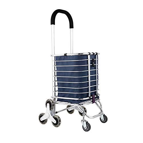 HUACANG Chariot de magasinage léger, Chariot de magasinage Se Pliant sur des Roues avec Le Sac détachable et la Conception Pliable, légère et portative