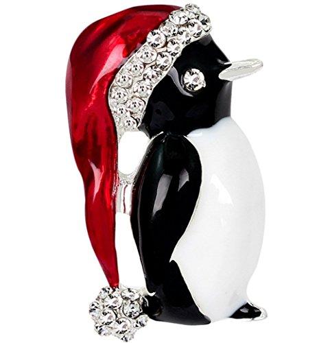 Doitsa Weihnachten Pinguin form Brosche Pin Ansteckernadel Sicherheitsnadel Modeschmuck für Hochzeit Schmuck Zubehör Geburtstags Geschenk (Kostüm Schmuck Pins)
