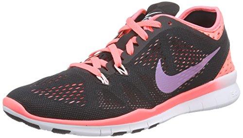 Nike Nike Free 5.0 TR Fit Damen Laufschuhe, Chaussures de course femme Noir (Black/Hot Lava-Lava Glow-White 003)