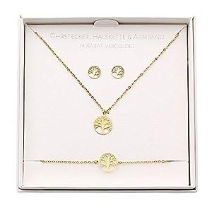 HCA Geschenkset Halskette-Armband-Ohrstecker – Verschiedene Designs