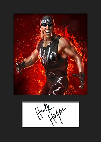 Hulk Unterzeichnet Wwe (Hulk Hogan WWE # 3Signiert Foto A5Print)
