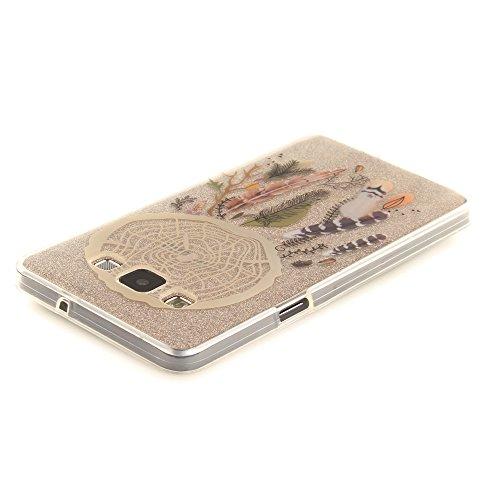 Samsung Galaxy A5 (2015) hülle,MCHSHOP Ultra Slim Skin Gel TPU hülle weiche Silicone Silikon Schutzhülle Case für Samsung Galaxy A5 (2015) - 1 Kostenlose Stylus (Pflaume) Bunte Windspiele