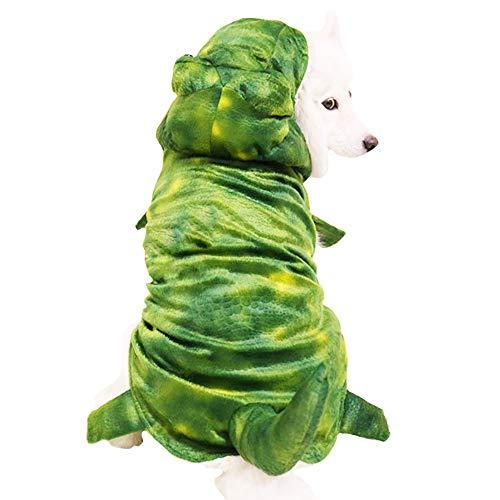 MUYAOPET Muyaotet Halloween-Kostüm für Hunde, Dinosaurier, groß, für den Winter, 5XL, grün