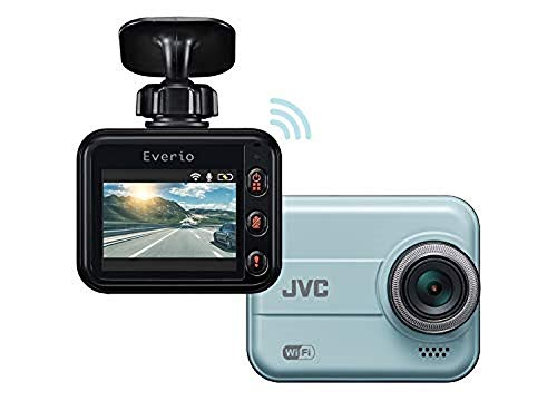 JVC KENWOOD GC-DR20 Dashcam with WiFi, Full HD, Shock Sensor, LED Signal Support, WDR and microSDHC Card Included [Japan Genuine Product][Blue]