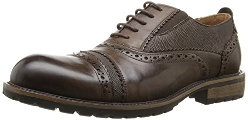 Steve Madden Men's Spanner Oxford, Brown, 7.5 M US - Madden Steve Oxford