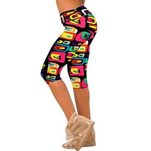 Impreso Stretch Leggings yoga Sannysis Pantalones pirata para mujer de