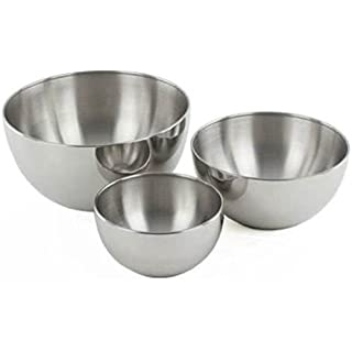 Liefde Stainless Steel Mixing   Serving Bowl Set of 3 Bowls
