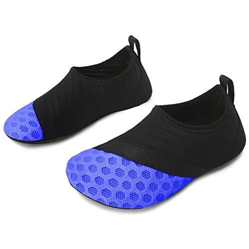 JOINFREE Kleinkind Kinder Wasser Schuhe für Jungen Mädchen Schwimmen Socken Schuhe für Strand Pool Wasserpark, Punkt blau 22-23 EU