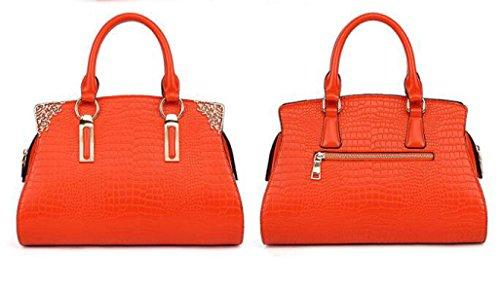 Damen Handtaschen Handtaschen Umhängetasche Krokodil Muster Leder Handtaschen Europa Und Die Vereinigten Staaten Fashion Elegant Einfache Diagonale Paket F
