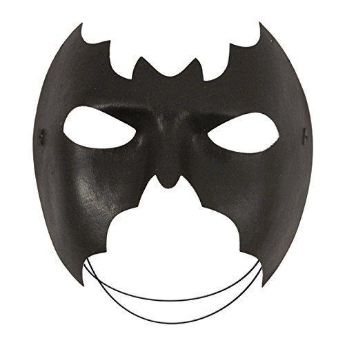 Trendy Fashion - Schwarze Augenmaske Maskerade Super Held Kostüm Batman Maske - Batman Maske Schwarz, Keine ()