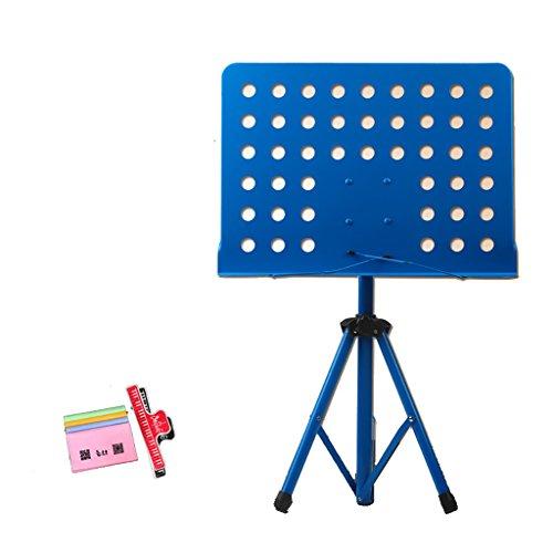 Notenständer Einziehbare Klammer-tragbare Spektrum-Regal Mit Musik-Klipp Und Handtasche (Farbe : Blue) -