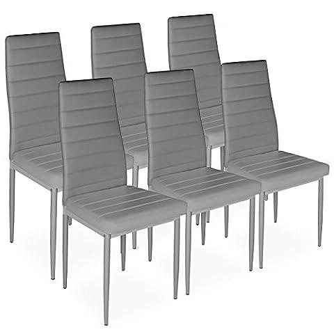 Homelux 6er-Set Stühle Esszimmerstühle Polsterstuhl (T x B x H)
