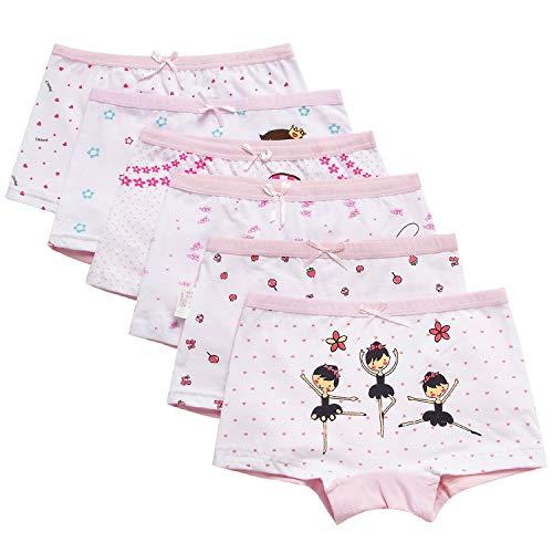Mädchen Panty (Adorel Mädchen Unterhosen Panty 6er-Pack Rosa 6-7 Jahre (Herstellergr. 130))