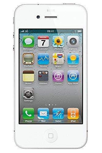 Apple iPhone 4S Smartphone MC537LL/A (8,9 cm (3,5 Zoll) Touchscreen Display, 5 Megapixel Kamera, 32GB iOS) weiß (Generalüberholt)