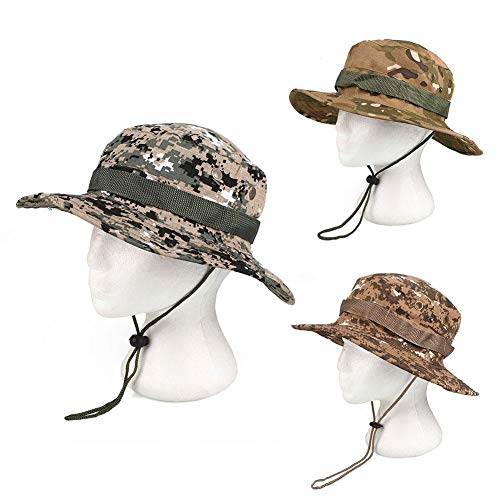 INFIKNIGHT INF relefree Outdoor Fishing Hunting Camo Boonie Hat Tactical Army Military Bush Sun Fishing Hiking Camouflage Caps Multi Colors Camo Boonie Sun Hat